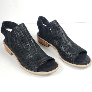 Sofft NALDA Black Low Heel Perforated Sandals 8.5